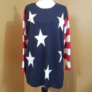 Quacker Factory  VTG 1X red/white/blue sweater
